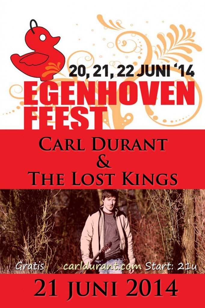 Flyer Egenhoven Feest Carl Durant