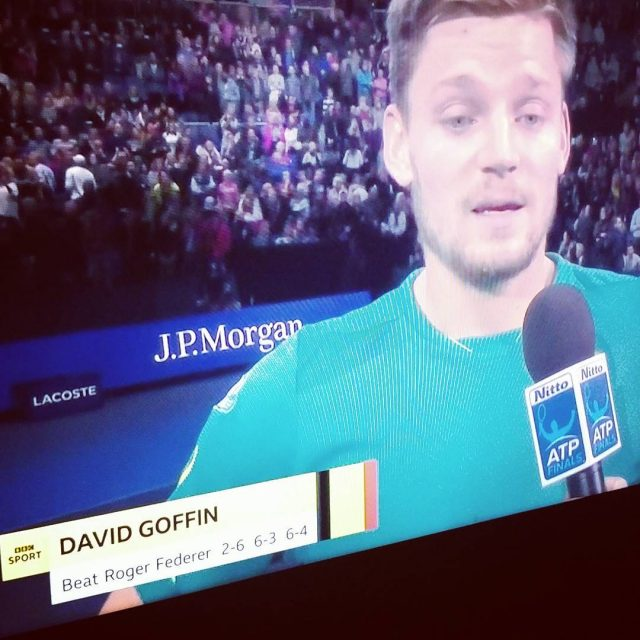 Historic victory over Federer Well played David Goffin! goffind tennishellip